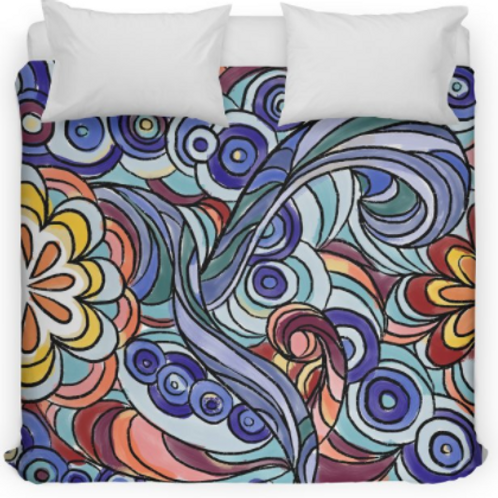 Funky Sixties Design Bed Duvet Cover