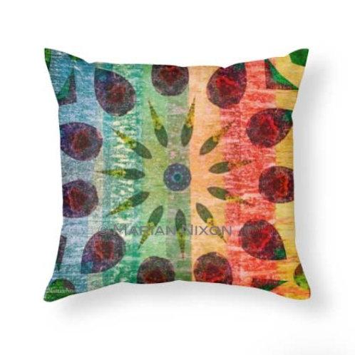Rustic Mandala Sun Throw Pillow