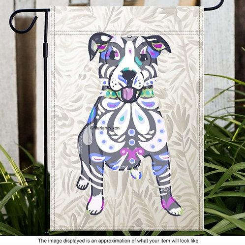 Pitbull Dog Garden/House Flag, Dog Lover Gift