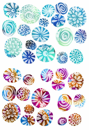 Wall Decals Dorm Art Flower Dots
