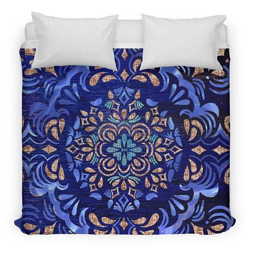 Fall Swirl Design Duvet Cover