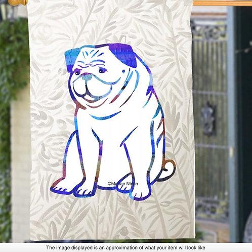 Pug Dog Garden/House Flag, Dog Lover Gift