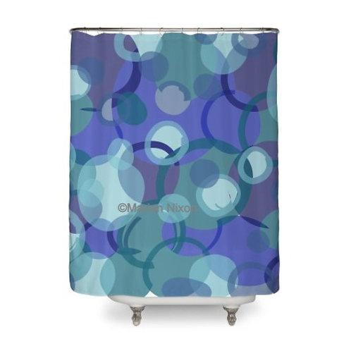 Blue Camo Art Shower Curtain