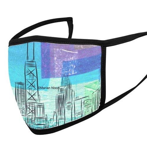 Chicago Skyline Face Mask or Neck Gaiter