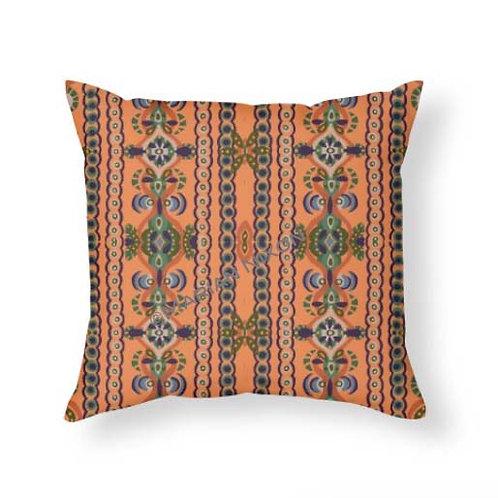 Abstract Folk Art Throw Pillow