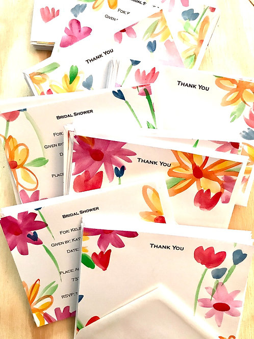 Custom Invitations/Announcements Sets, Thank You Cards