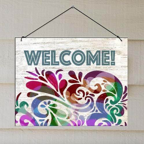 Welcome Door or Porch Sign, Indoor/Outdoor Decor