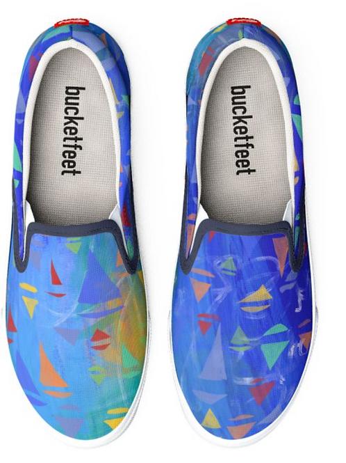 Sailboat Design Slip on Sneakers