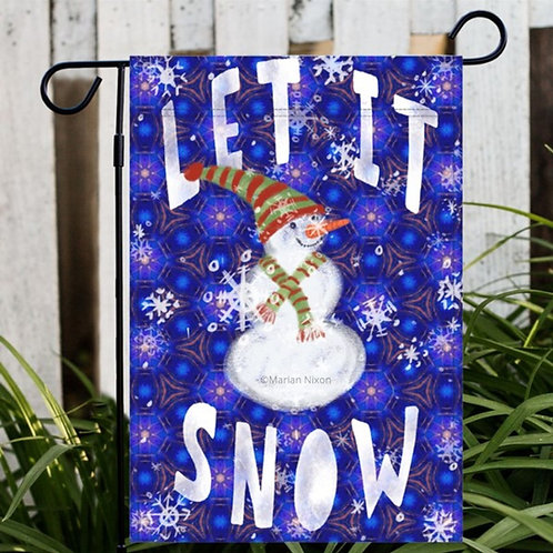 Let It Snow Winter Garden or House Flag, Yard Decor