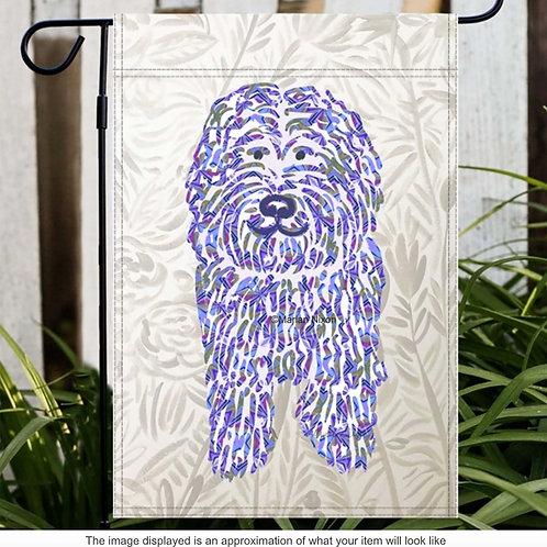 Doodle Dog Garden/House Flag, Labradoodle Lover Gift