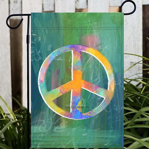 Peace Sign Garden & House Flags