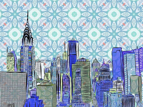 New York City Wall Decor, NYC Skyline Art