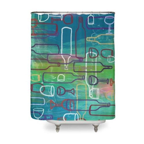 Wine Party Design Shower Curtain