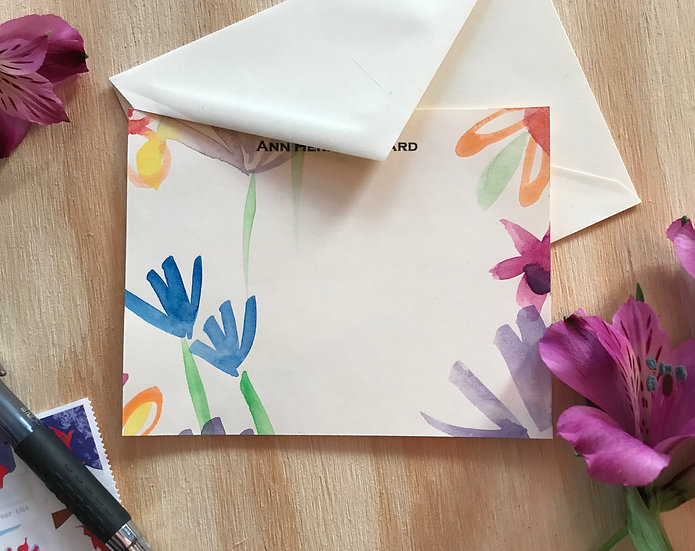 Personalized Notecard Set, Hand-Painted Gift for Her