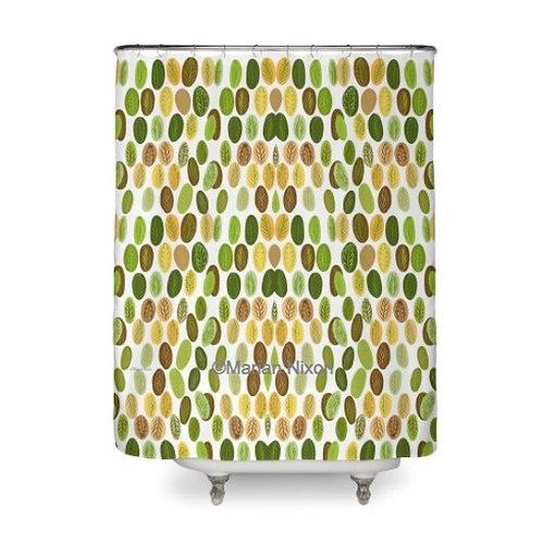 Autumn Leaves Design Shower Curtain
