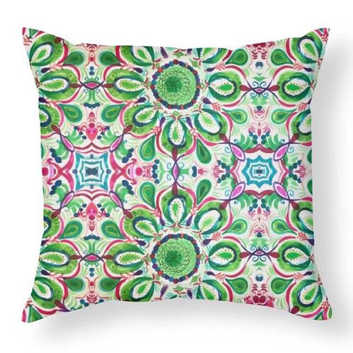 Christmas Abstract Design Throw Pillow