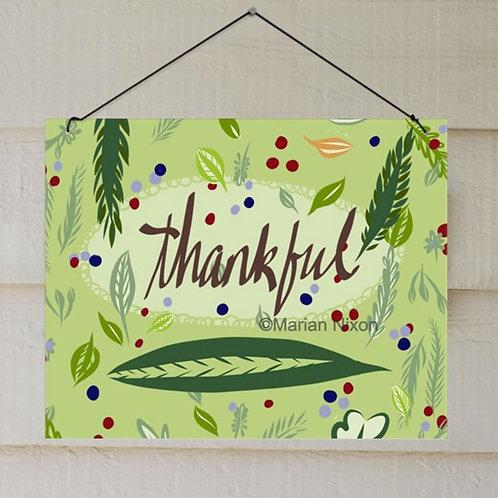 Thankful Sign, Thanksgiving Decor, Door Hanger
