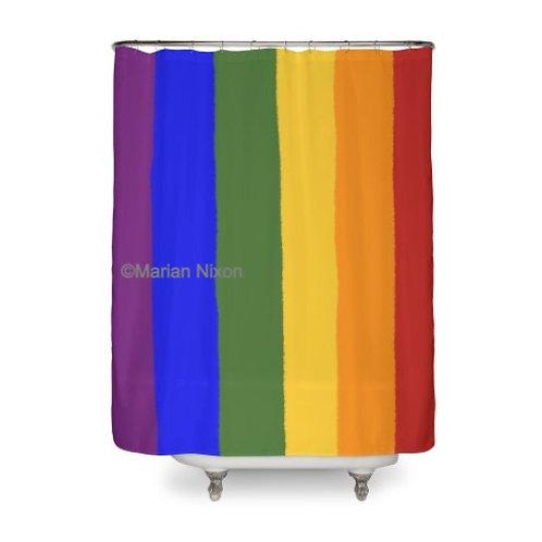 Rainbow Gay Pride Shower Curtain