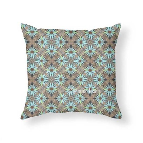Rustic Flowers Throw Pillow
