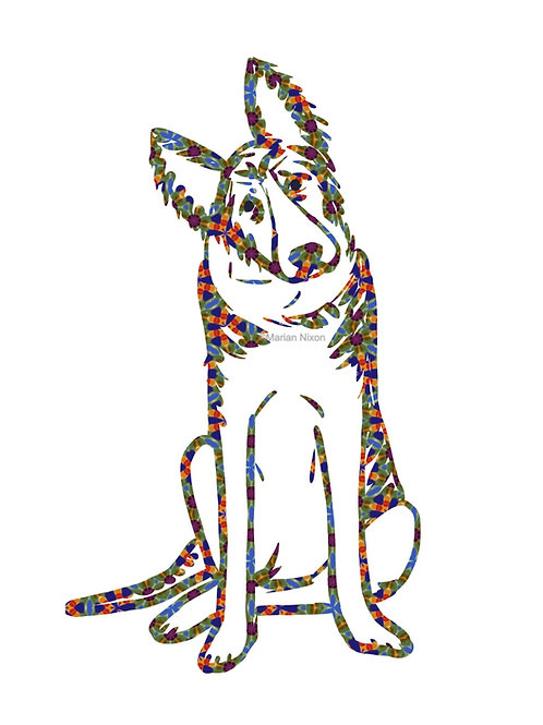 German Shepherd Dog Art Print, Personalized with Your Dog's Name
