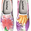 Thumbnail: Pink Floral Watercolor Design Slip on Sneakers