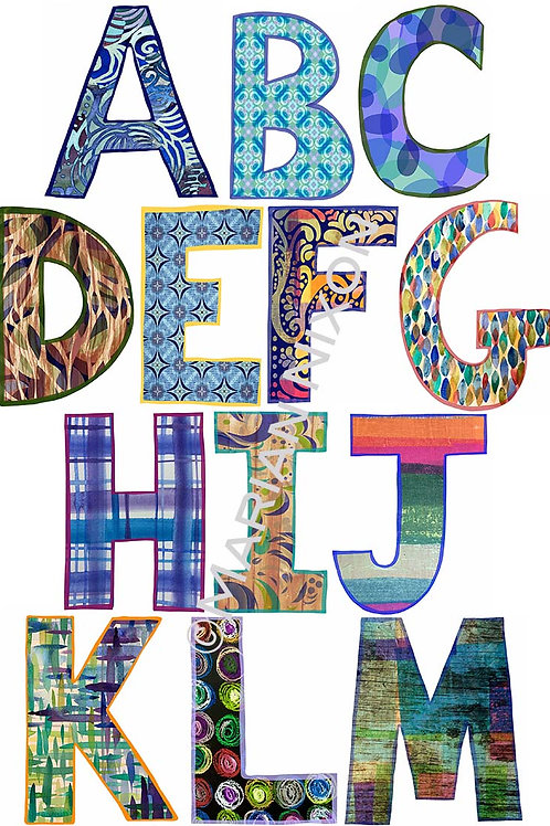 Alphabet Wall Decals, LARGE, Bold Design Letter Stickers, Kids Room De