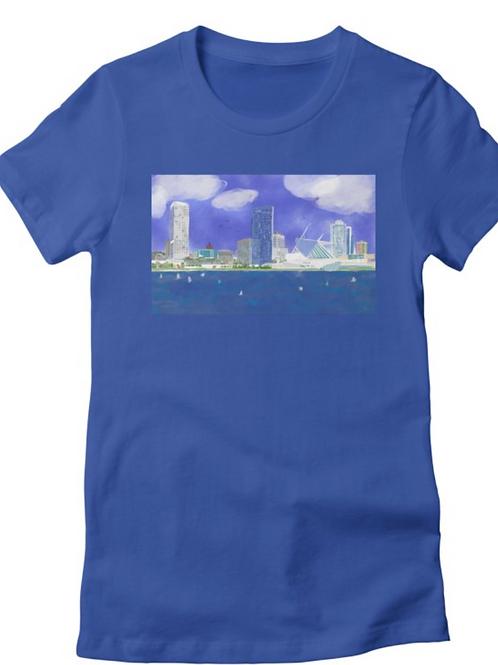 Milwaukee Wisconsin Skyline T-Shirts, Tank Tops