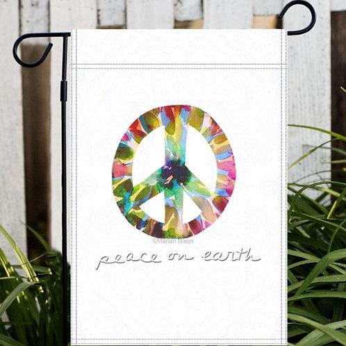 Peace on Earth Garden or House Flag