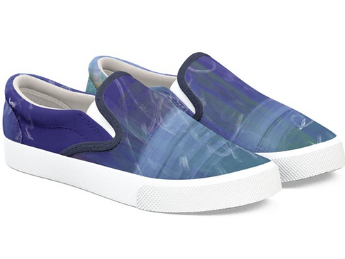 Abstract Blue Art Design Sneakers
