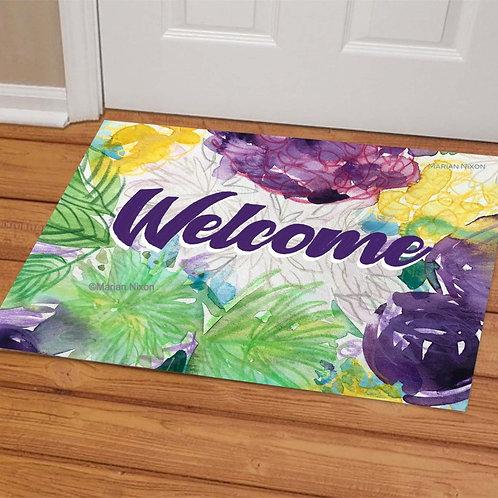 Floral Design Doormat, Welcome Mat, Porch Decor