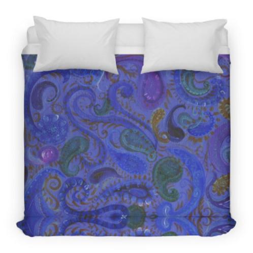 Blue Paisley Bedding/Duvet Cover