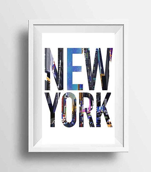 New York Wall Art, NYC Skyline Print, Manhattan Housewarming Present, Gift for H