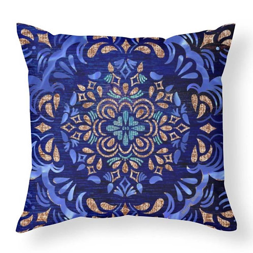 Fall Swirl Abstract Throw Pillow
