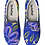 floral blue and purple design on sneakers