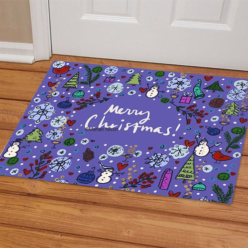 Merry Christmas Doormat, Welcome Mat, Holiday Porch Decor