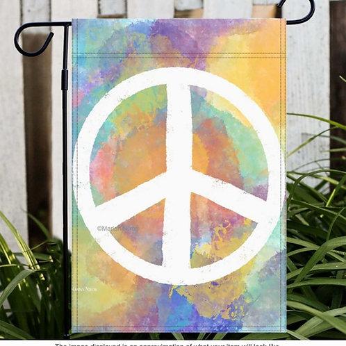 Peace Garden or House Flag, Door Hanger, Window Flag