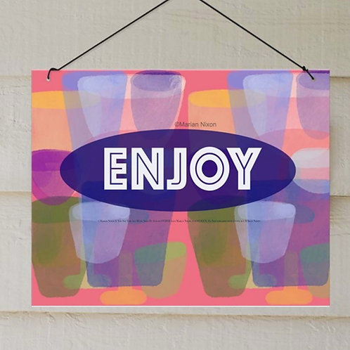 Enjoy Porch Sign, Indoor/Outdoor Decor
