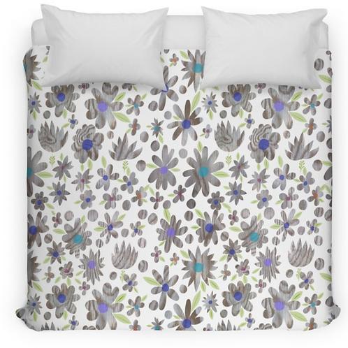 Wood Flower Garden Bed Duvet Cover