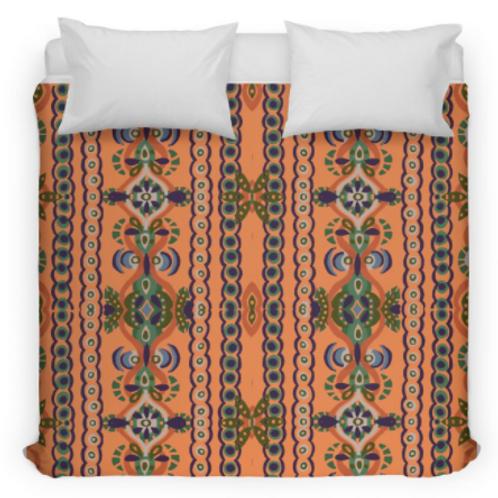 Orange Fall Swirl Bed Duvet