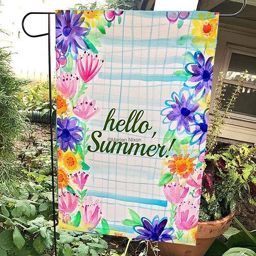 Hello Summer Garden Flag, Outdoor Decoration