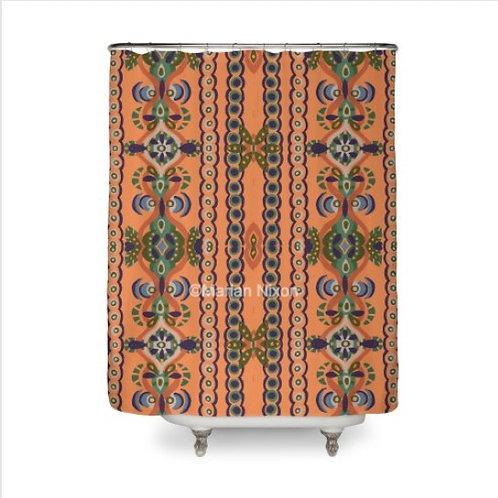 Fall Swirl Design Shower Curtain