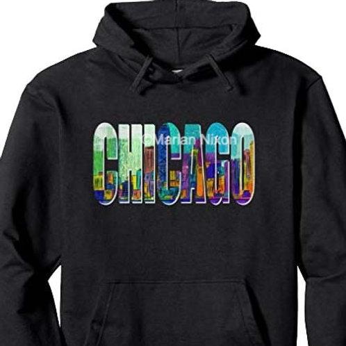 Chicago Skyline Art Clothing