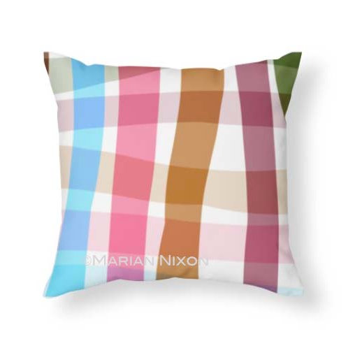 Autumn Plaid Throw Pillow