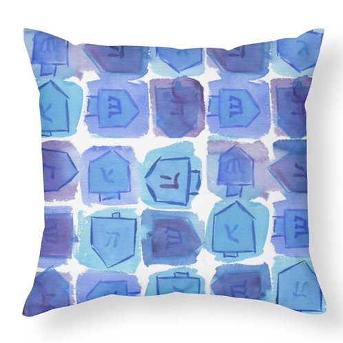Hanukkah Dreidels Throw Pillow