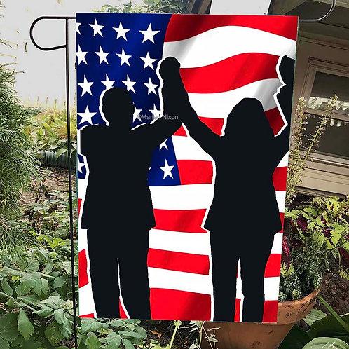 Biden Harris Garden Flag, House American Flag