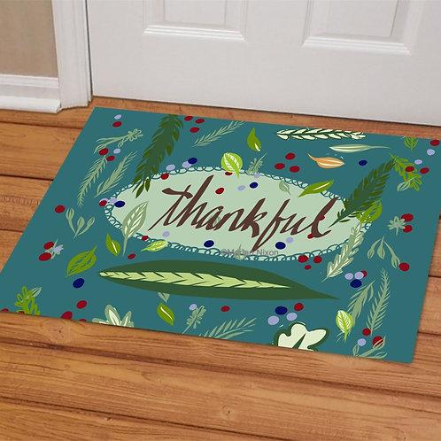 Thankful Doormat, Welcome Mat, Porch Decor