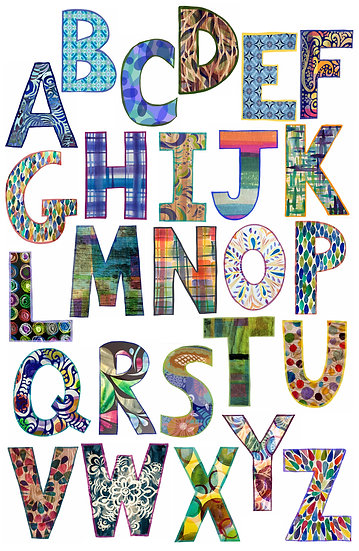Alphabet Wall Decals, Letter Stickers Bold
