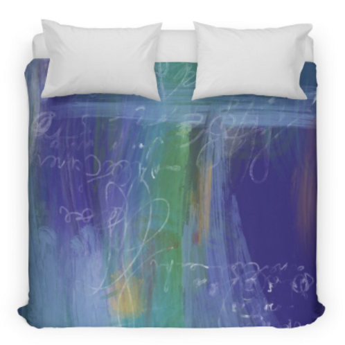 Blue Abstract Bedding/Duvet Cover