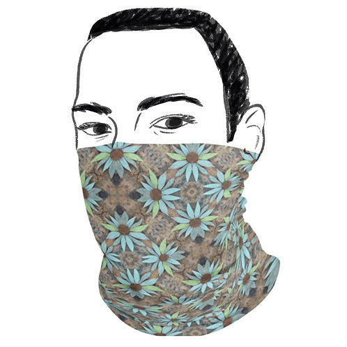 Rustic Style Floral Face Mask & Neck Gaiter