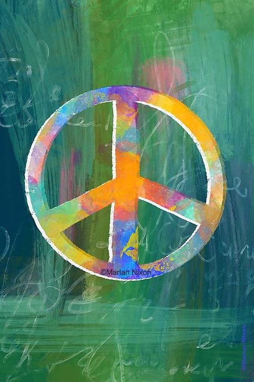 Peace Sign Art Print, Office Wall Decor